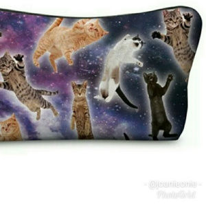 Handbags - $7 ADD ON! Flying Cats Padded Makeup Bag